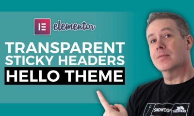 Elementor Pro Header Tutorial - Sticky Transparent Headers Hello Theme