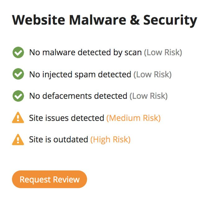malware and security check