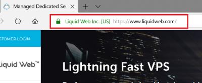 SSL Certificates - Extended Validation Certificates EV SSL example of Liquidweb