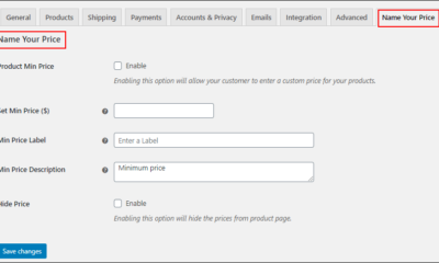 How to set a minimum price for WooCommerce Name Your Own Price ?