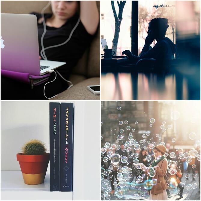 Unsplash stock image collage