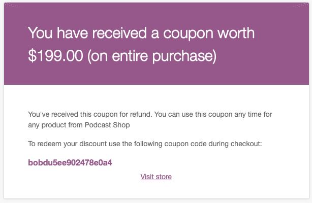 coupon code email
