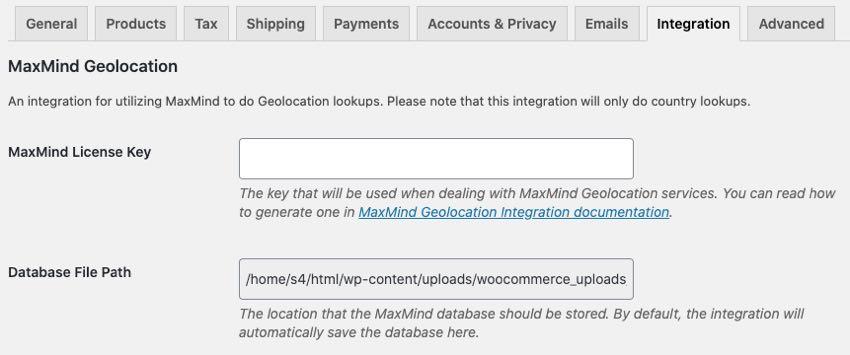 maxmind geolocation intergration
