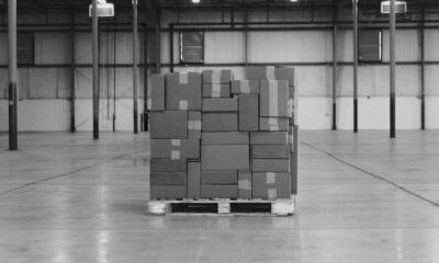 pallet of boxes for shipping