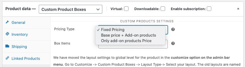 pricing type for bundled products