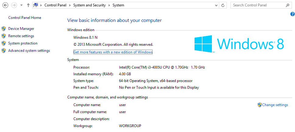 Check windows operating system details