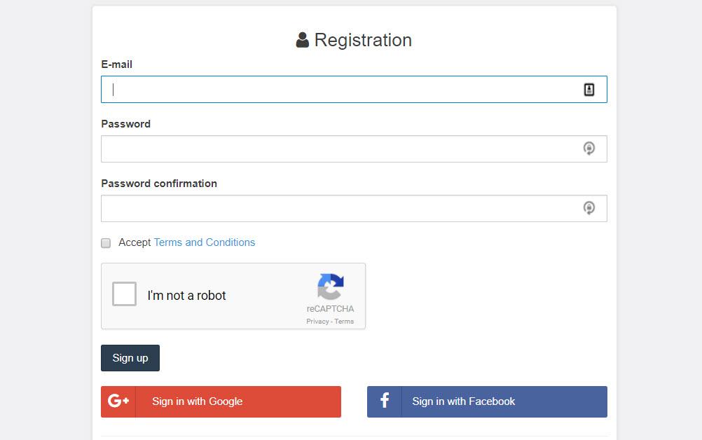 Coingate register