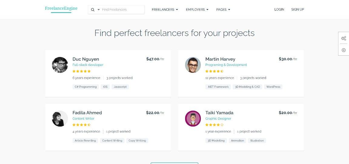 FreelanceEngine demo site