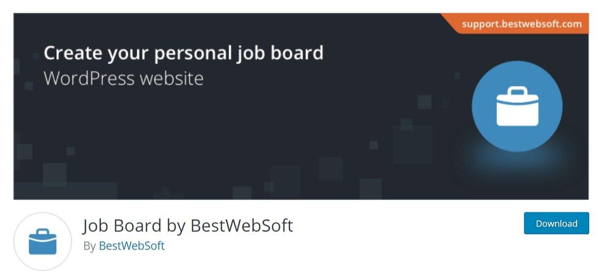 Job Board by BestWebSoft free plugin