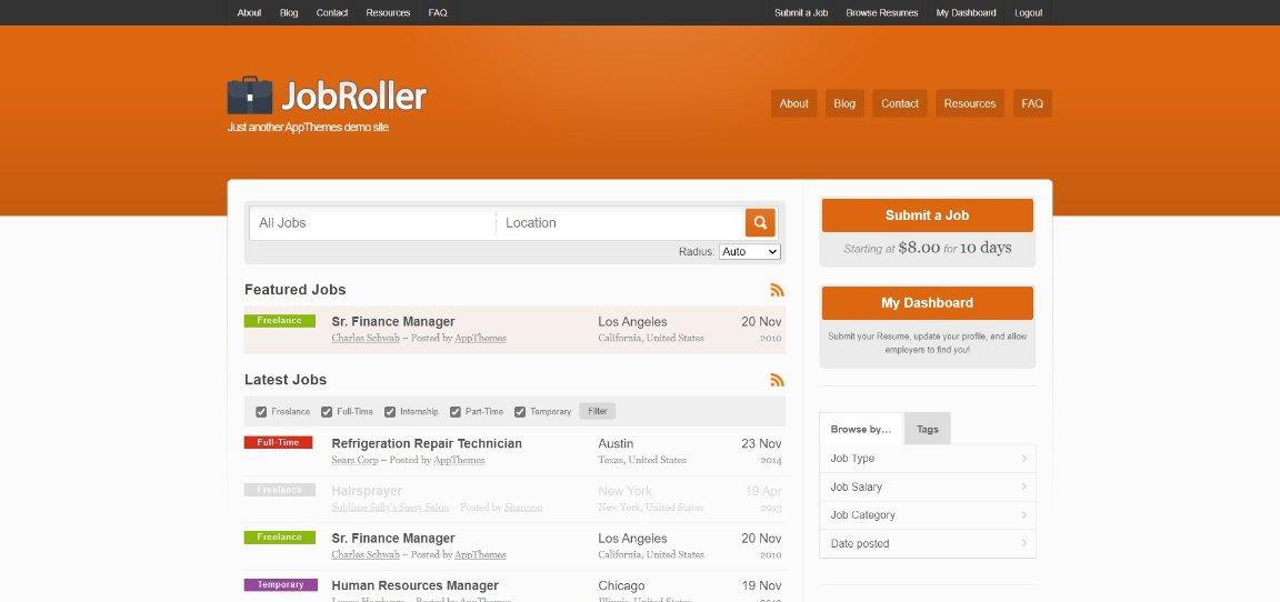 JobRoller Demo template