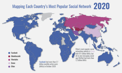 Mapped: Facebook's Path to Social Network Domination (2008-2020)
