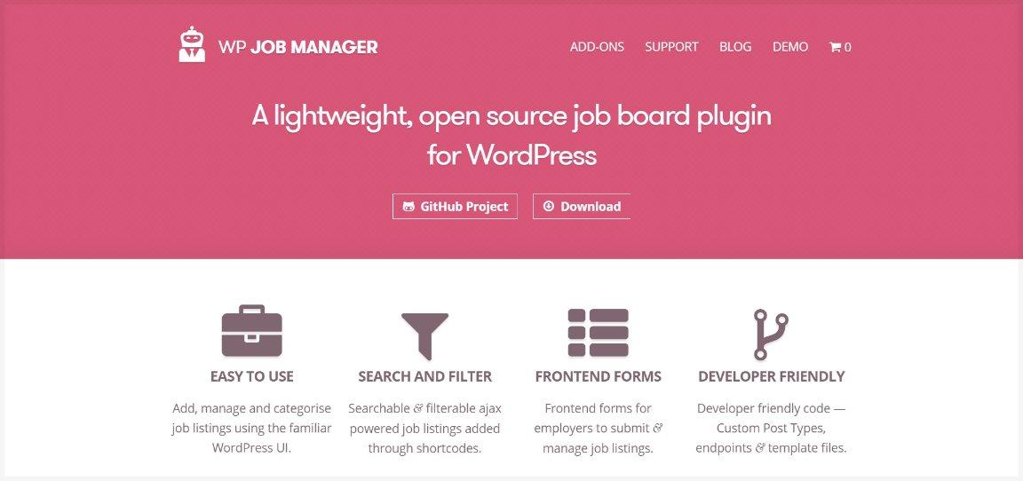 WP Job Manager job board plugin for WordPress