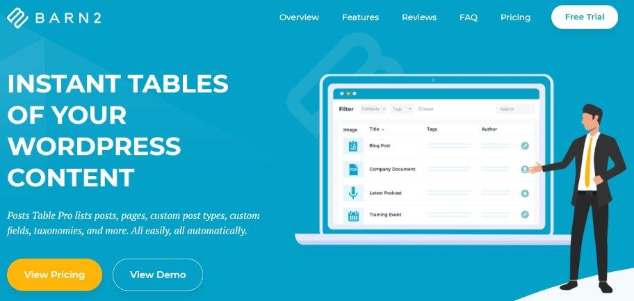WordPress Table Plugin