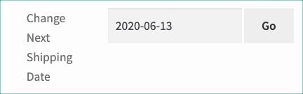 change next shipping date