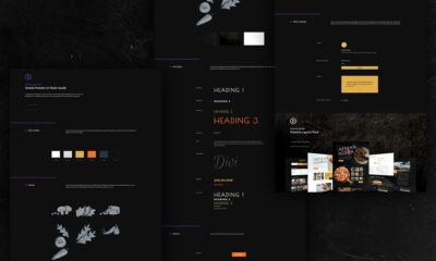 Download a FREE Global Presets Style Guide for Divi's Pizzeria Layout Pack