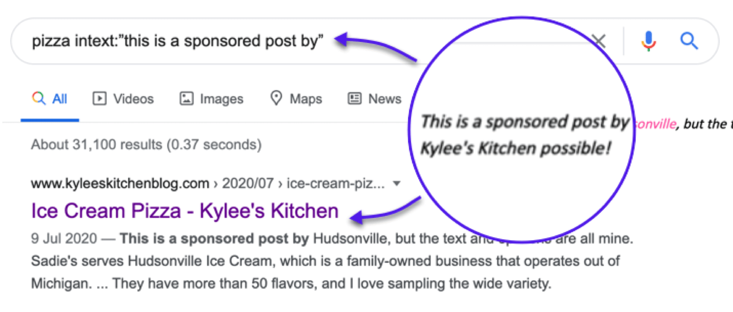 Quickly find sponsored post opportunities related to your niche
