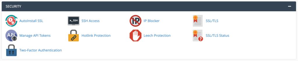 The IP Blocker option in cPanel.