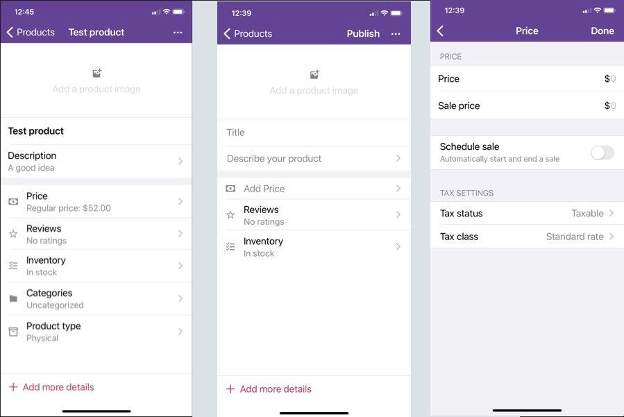 Woocommerce mobile app settings