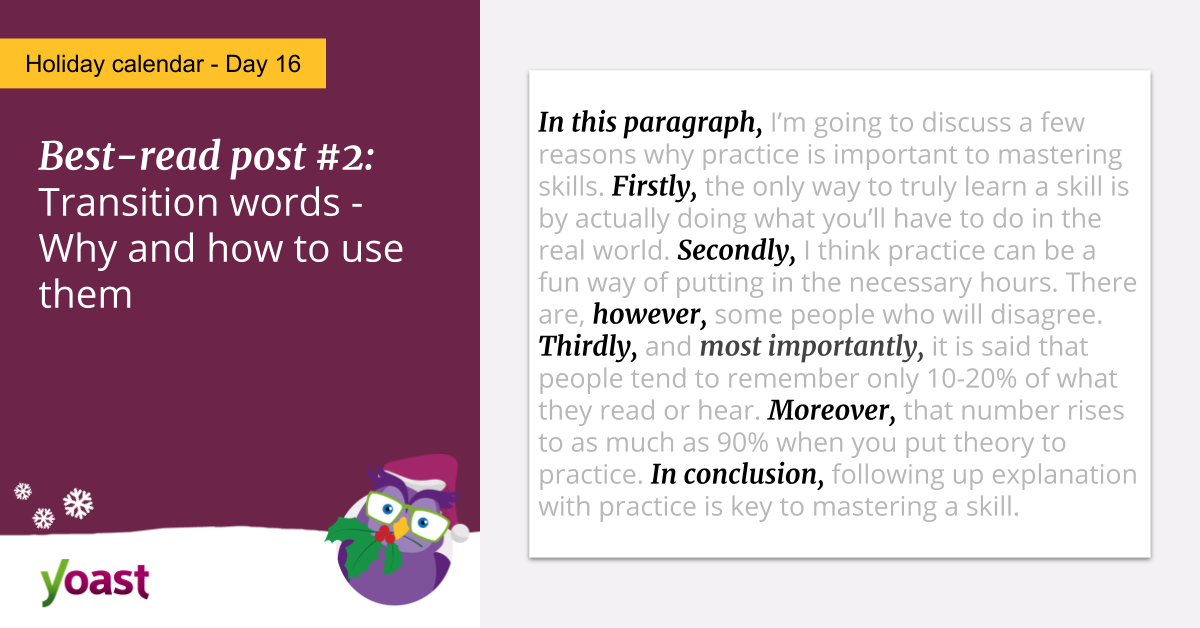 Transition words: why and how to use them