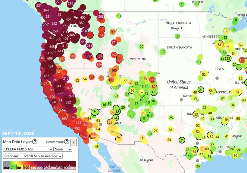 U.S. west coast air quality