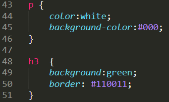 css basics of color