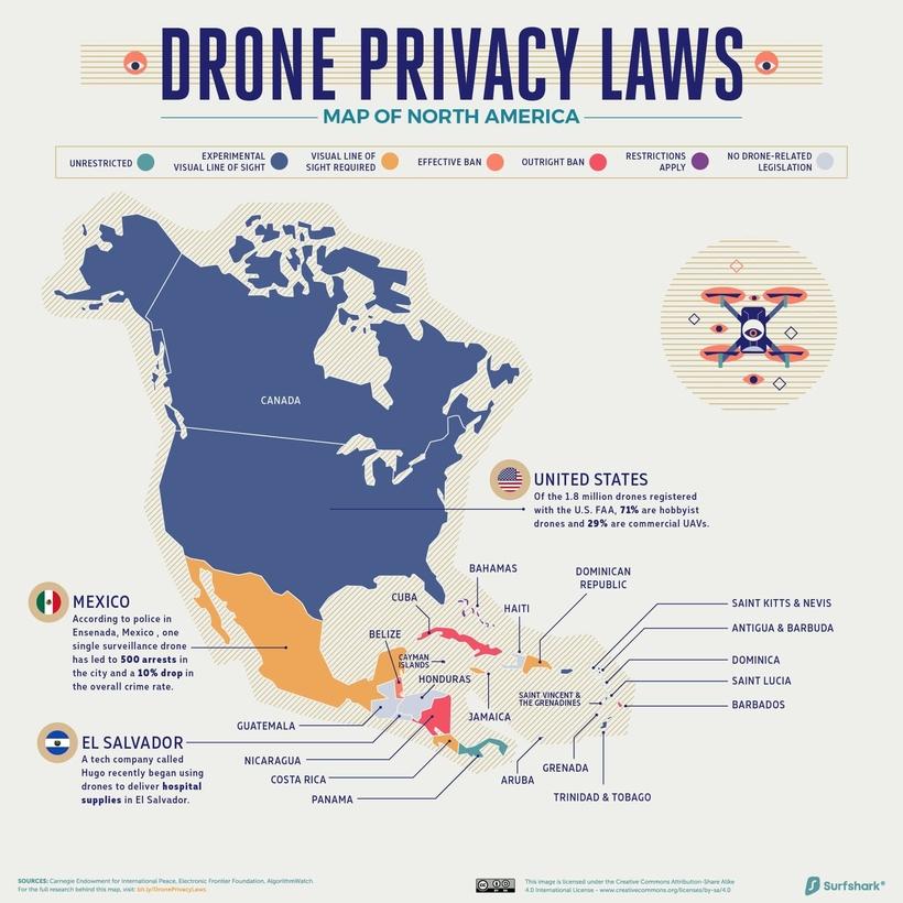 Drone Privacy Laws 820px North America