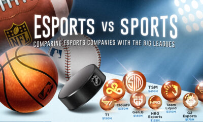 Esports Companies VS Sports - Share