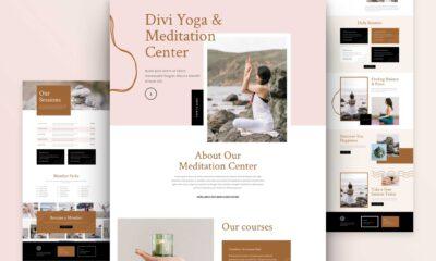 Get a FREE Meditation Center Layout Pack for Divi