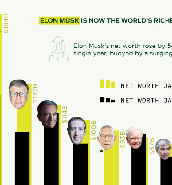 Elon Musk is the World's Richest Person in 2021