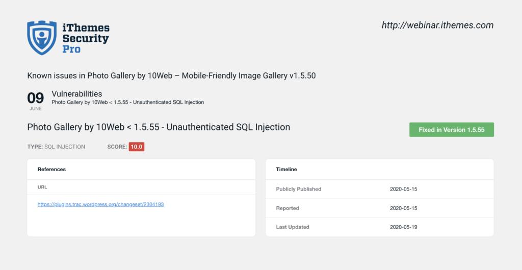 Site Scan Vulnerability Details