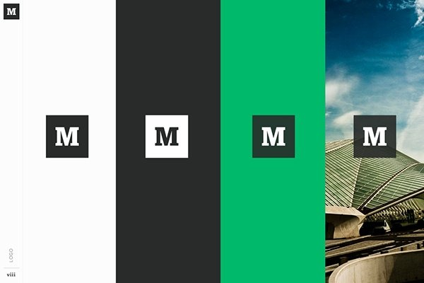 Brand style guide from Medium, featuring a white, black, and green color palette.