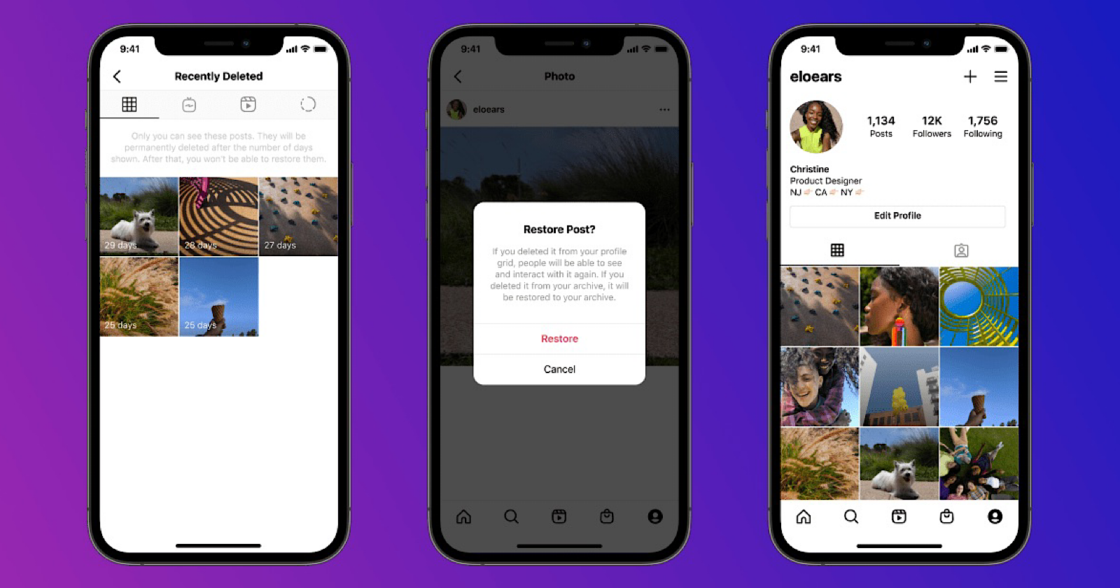 Instagram Adds 'Recently Deleted' Folder For Removed Content via @MattGSouthern