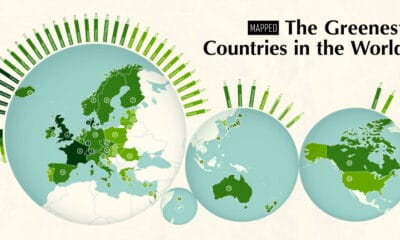Mapped: The Greenest Countries in the World