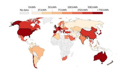 How Much Solar Energy is Consumed Per Capita? (1965-2019)