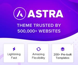 WP Astra - a free Multi-Purpose WordPress theme
