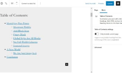 The Gutenberg WordPress Plugin To Introduce a Table of Contents Block