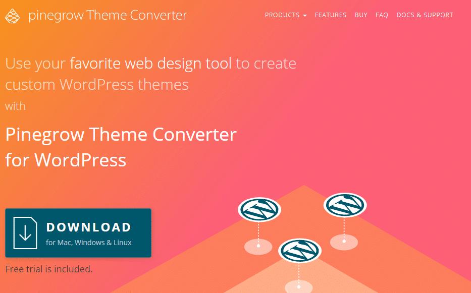 Pinegrow Theme Converter