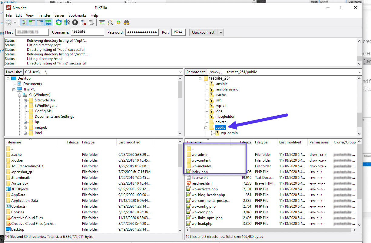 Find the root folder of your site