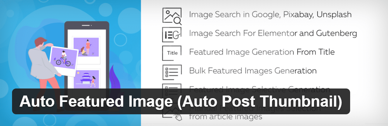 Auto Featured Image plugin
