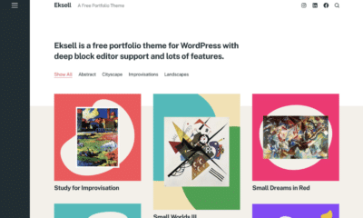 Eksell Portfolio Theme Now Available in WordPress Themes Directory
