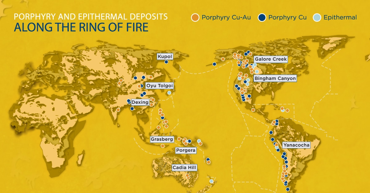 mineral deposits on the pacific ring of fire