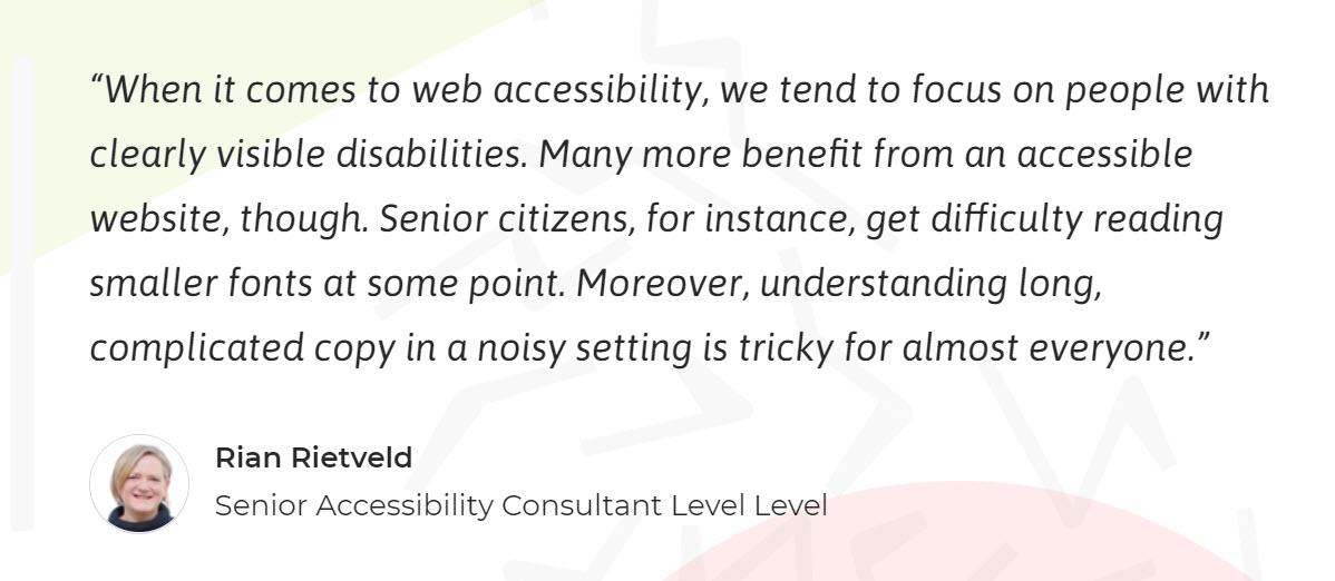 Web Accessibility Level Level