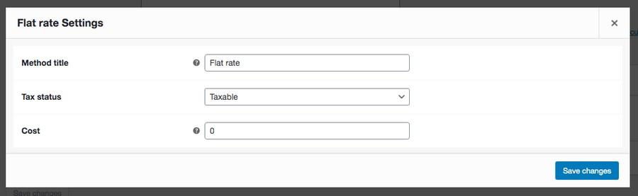 WooCommerce flat rate setting