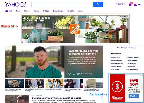 advertising banner display ad