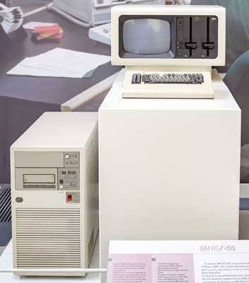 Image of an IBM AS400 computer from 1988
