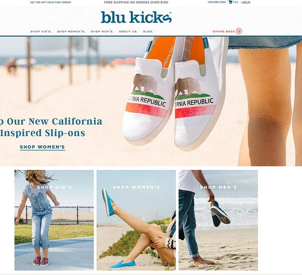 blukicks Example of Inspiring Shopify Ecommerce Stores