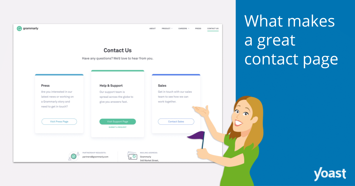 Contact page examples: What makes a great contact page?