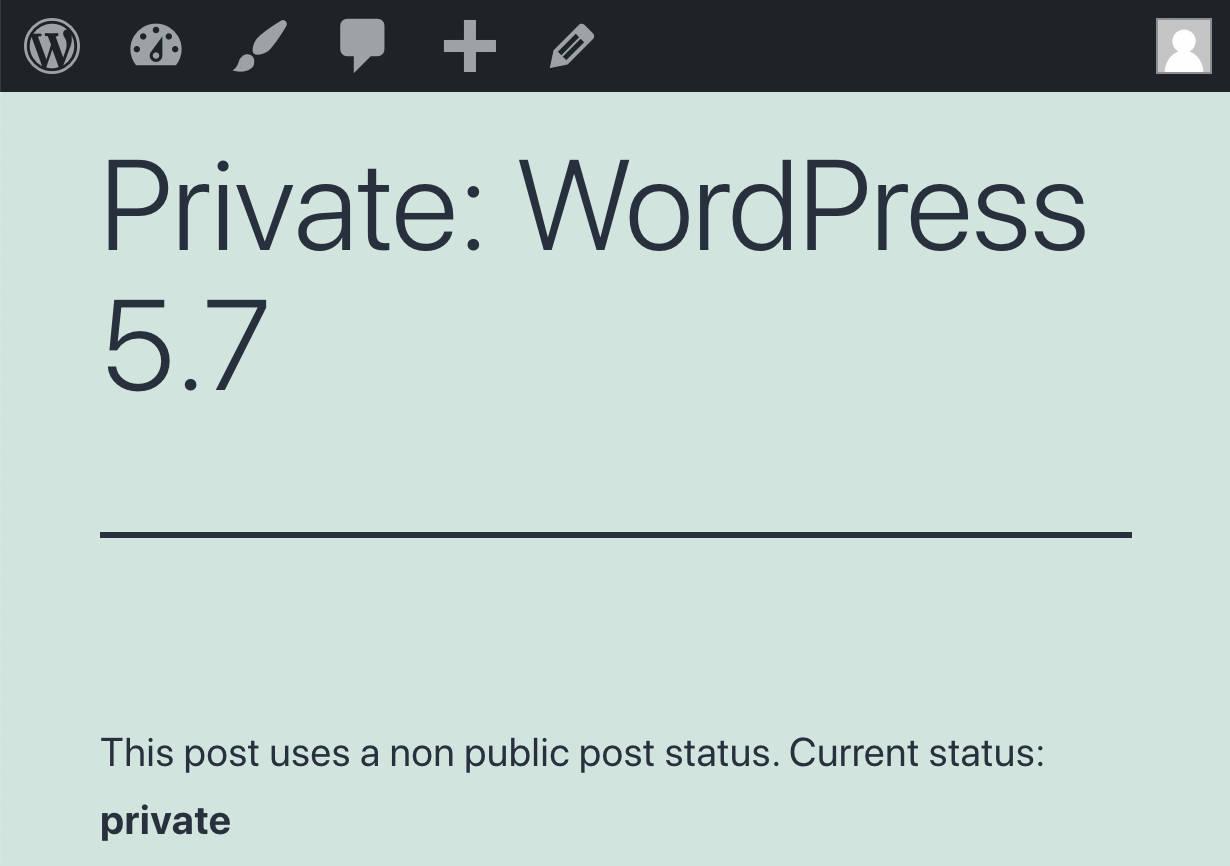 current status private