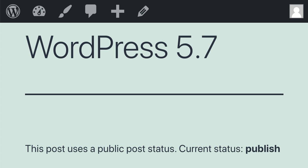 current status publish