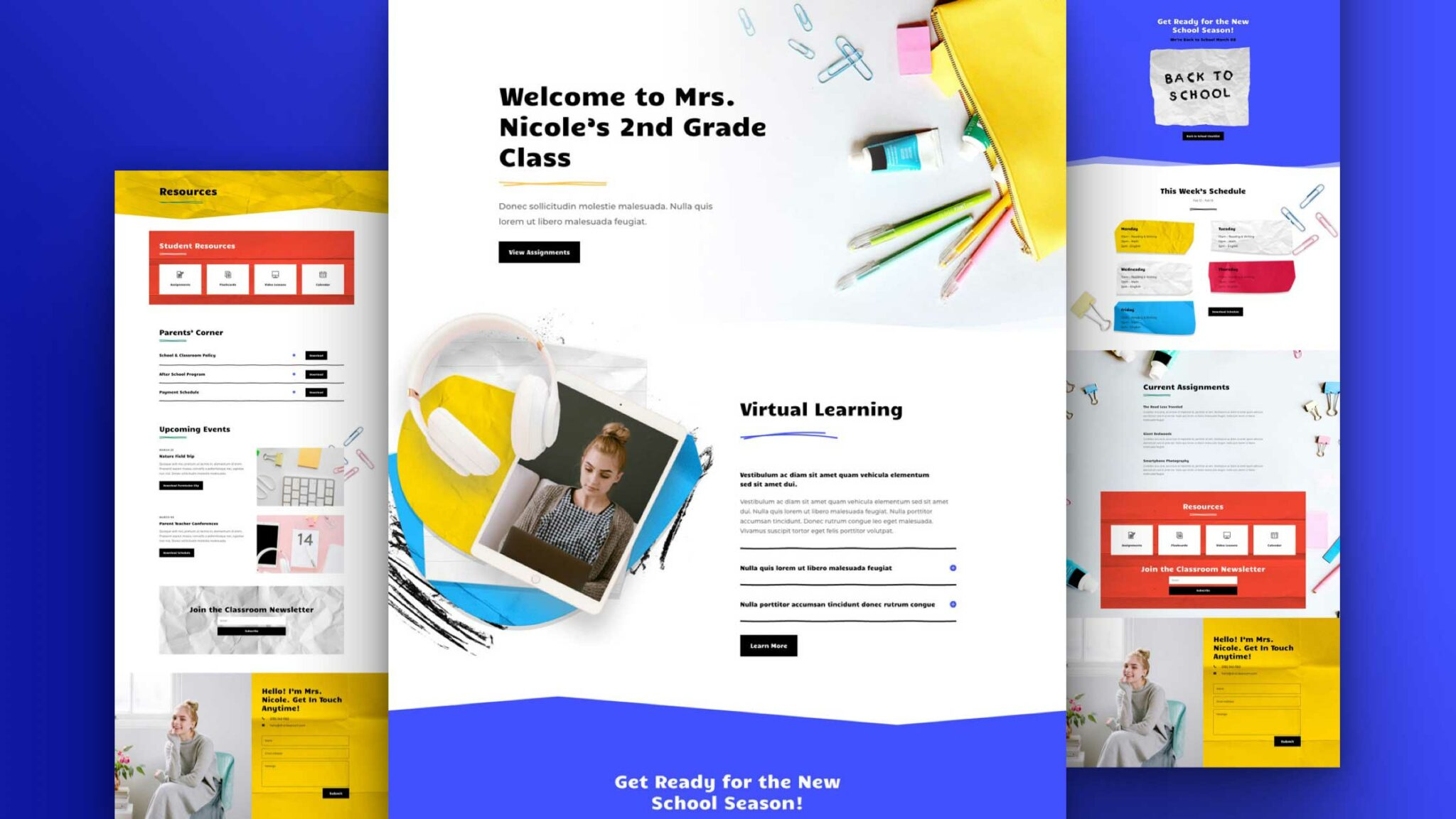 Get a FREE Classroom Layout Pack for Divi